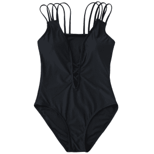 Strappy Padded One Piece Swimsuit -