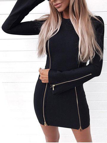 Buy Short Zippers Bodycon Dress