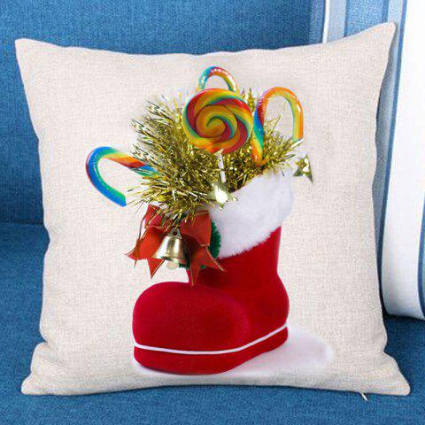 Fashion Christmas Candies Sock Printed Throw Pillow Case