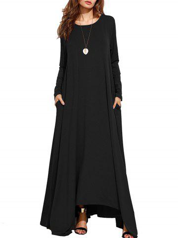 New Long Sleeve Maxi Casual Dress