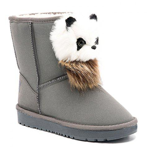 Affordable Little Bear Pendant Slip On Snow Boots