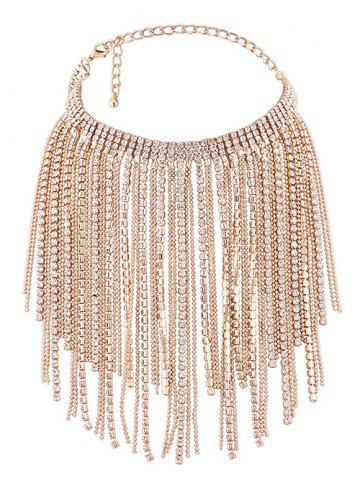 Best Faux Jewelry Multilayer Long Tassel Chokers Necklace