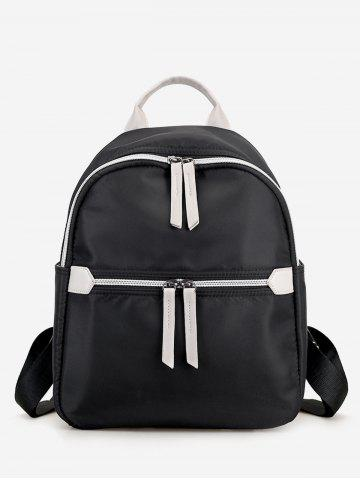 Shops Nylon Contrasting Color Backpack With Handle