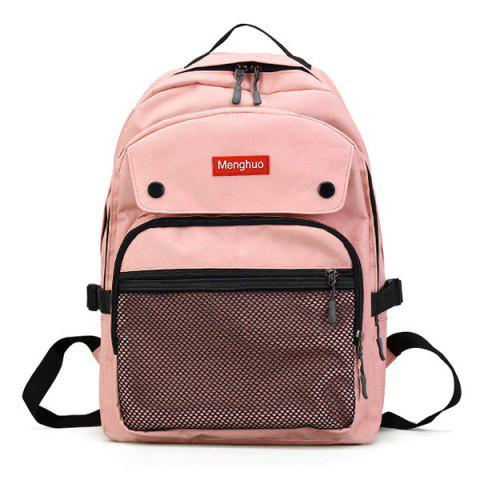 Discount Multi Function Mesh Pockets Letter Backpack