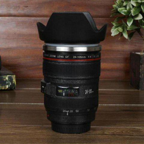 Affordable Creative SLR Camera Lens Shaped Electric Stirring Coffee Cup