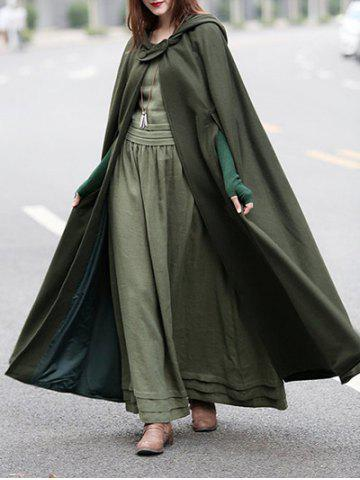 Outfit Cloak Coat with Double Breasted