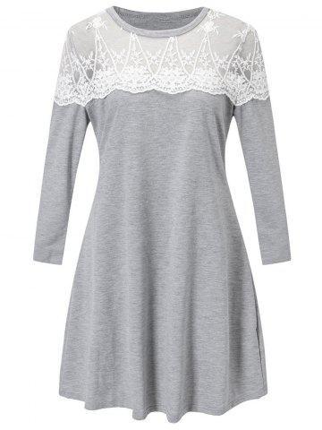 Buy Lace Panel Tunic Dress