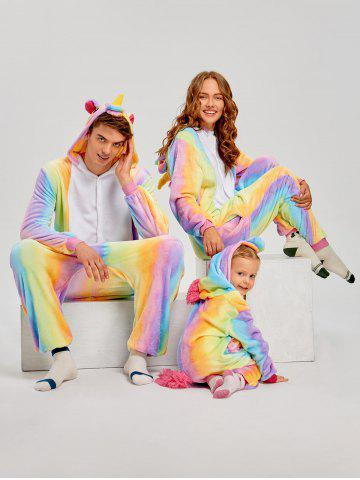 Unique Rainbow Unicorn Animal Christmas Family Onesie Pajamas