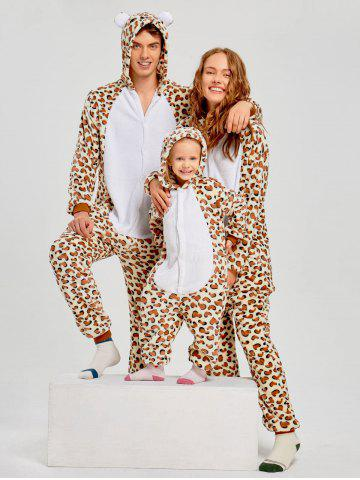 Trendy Leopard Bear Animal Family Onesie Pajamas