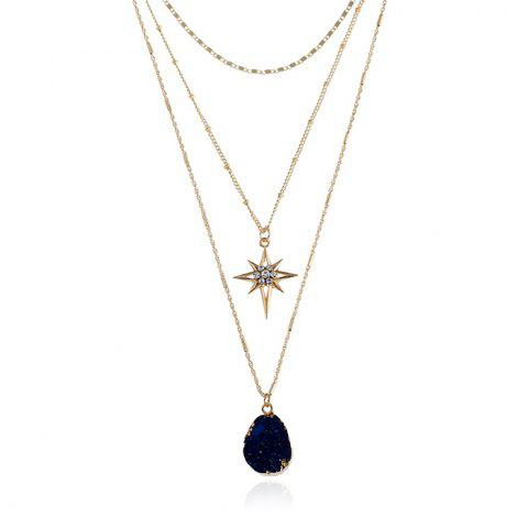Shop Layered Natural Stone Geometric Star Necklace