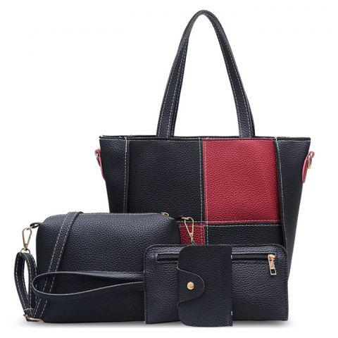 Shop 4 Pieces Faux Leather Shoulder Bag Set