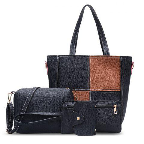 Unique 4 Pieces Faux Leather Shoulder Bag Set