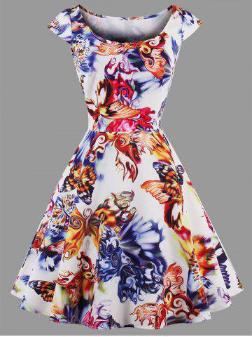 Buy Plus Size Butterfly Printed Dress