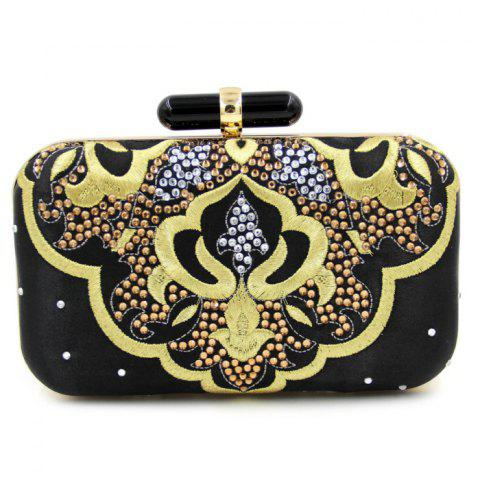 Sale Rhinestone Embroidery Evening Bag With Chain