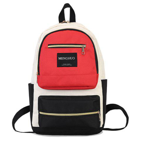 Online Multi Pockets Letter Backpack With Handle