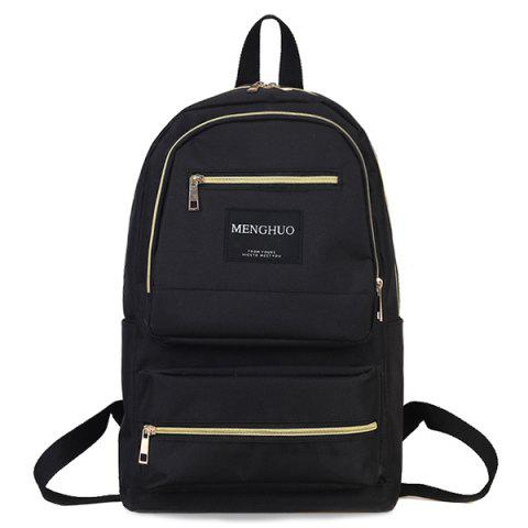 Outfits Multi Pockets Letter Backpack With Handle