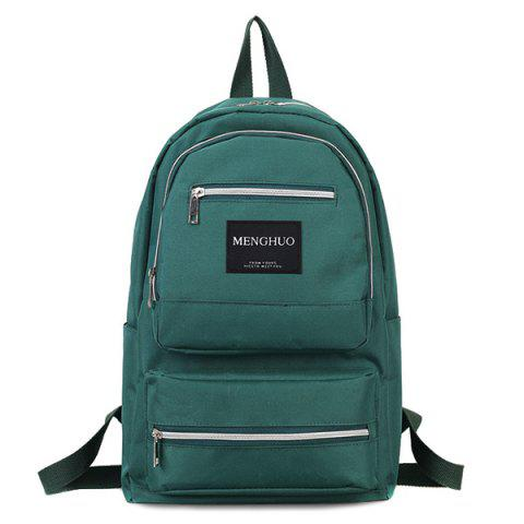 Fashion Multi Pockets Letter Backpack With Handle