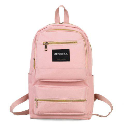 Outfit Multi Pockets Letter Backpack With Handle