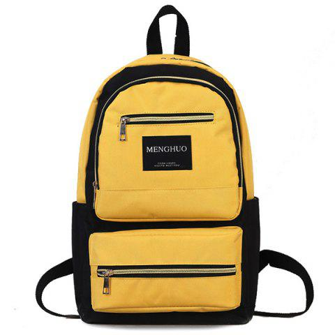 Hot Multi Pockets Letter Backpack With Handle