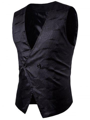 Discount Vertigo Pattern Two Button Waistcoat