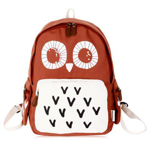 Color Block Sac à dos à motif hibou