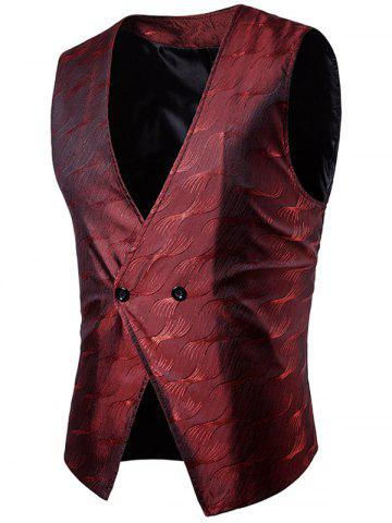 Fancy Vertigo Pattern Two Button Waistcoat