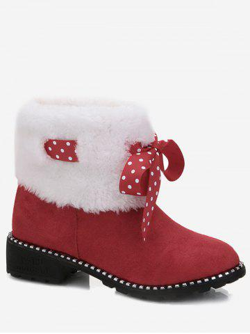 Latest Faux Fur Bowknot Snow Boots
