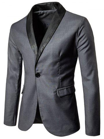 Affordable Shawl Collar One Button Tuxedo