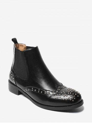 Buy Low Heel Studs Embellished Chelsea Boots