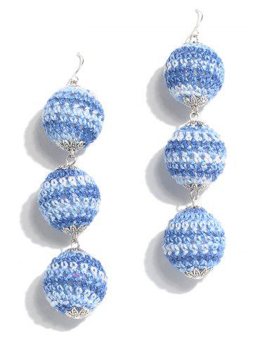 Bohemian Braid Boucles d'Oreilles Ball Drop