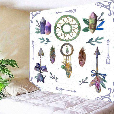 Fashion Dreamcatcher Feather Arrows Print Wall Art Tapestry