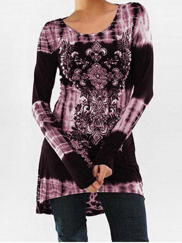 Chic Tie Dye Long Sleeve Tunic Top