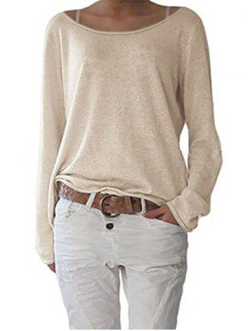 Fancy Long Sleeve Scoop Neck T-shirt