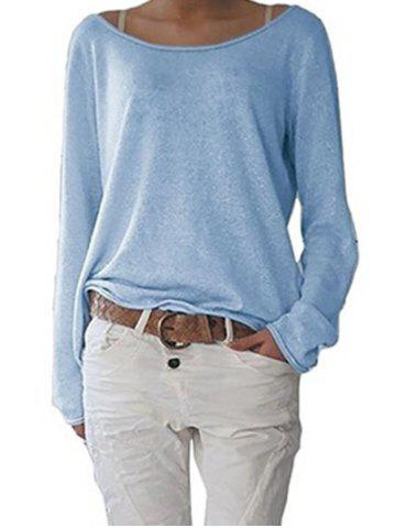 Online Long Sleeve Scoop Neck T-shirt