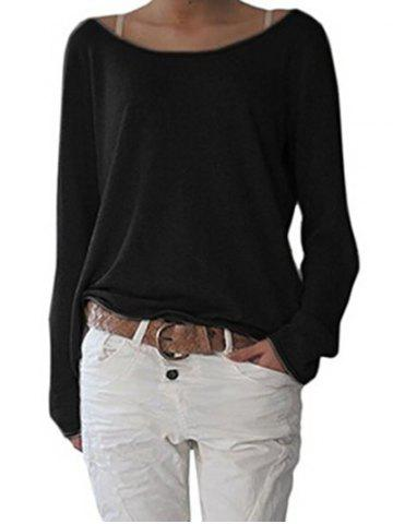 Cheap Long Sleeve Scoop Neck T-shirt