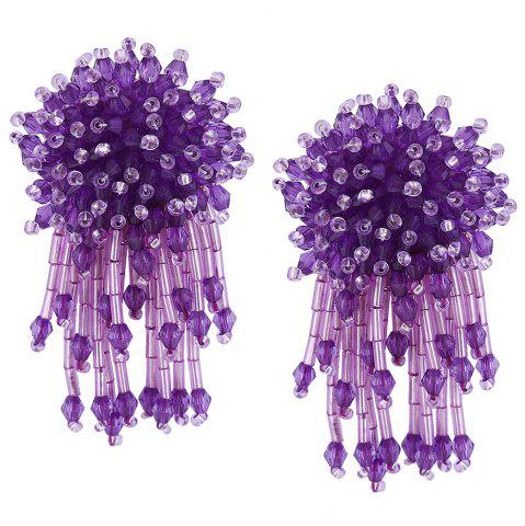 Latest Beaded Cluster with Fringed Earrings