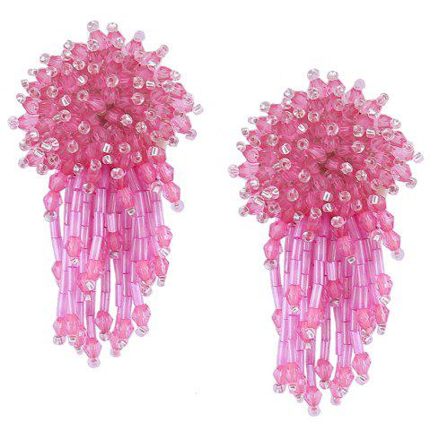 Outfits Beaded Cluster with Fringed Earrings