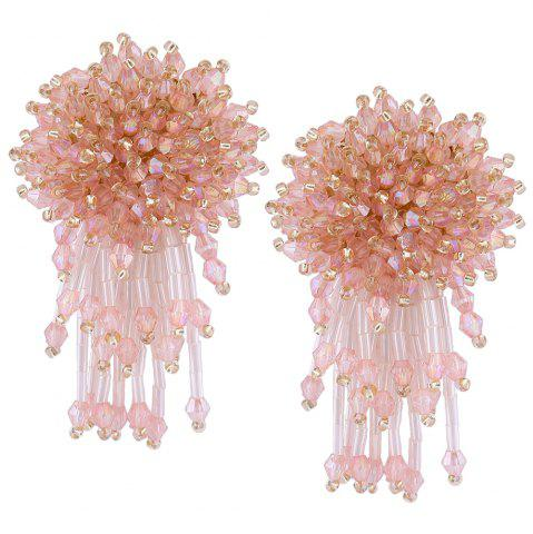 Fancy Beaded Cluster with Fringed Earrings