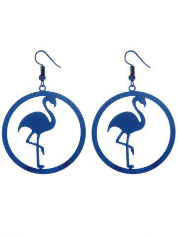 Shop Circle Flamingo Shape Drop Earrings