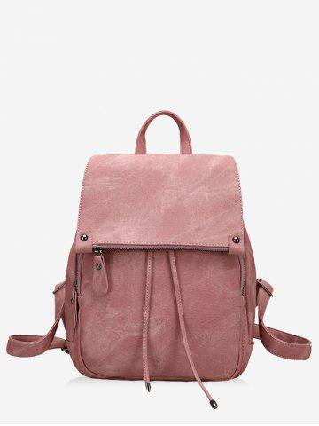 Chic Faux Leather Multi Function Backpack With Handle