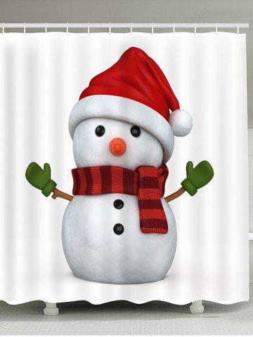 Hot Showerproof Lovely Christmas Snowman Pattern Bathroom Curtain