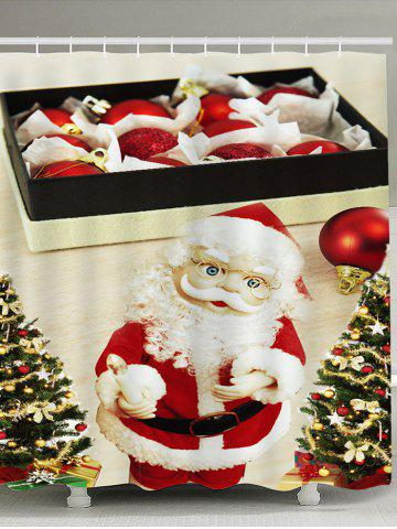 Best Santa Claus with Glasses Pattern Waterproof Shower Curtain