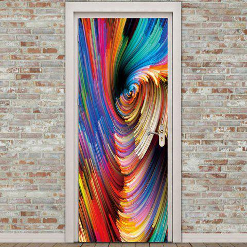 Trendy Colorful Painting Pattern Environmental Removable Door Stickers