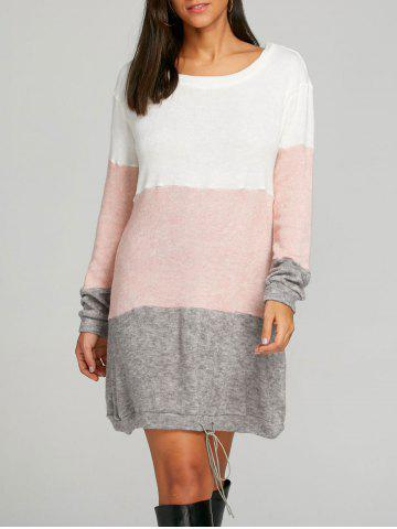 Buy Color Block Striped Sweater Dress