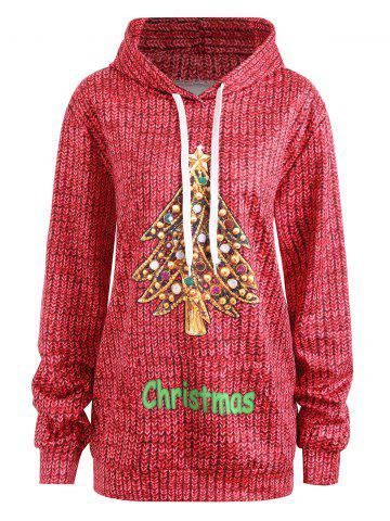 Affordable Plus Size Christmas Hoodie with Pockets