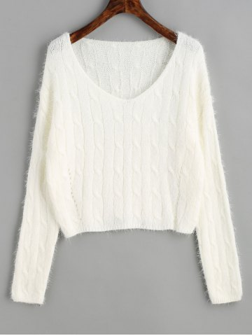 Outfit Cable Knit Textured Cropped Sweater