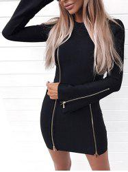 Short Zippers Bodycon Dress -