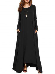 Long Sleeve Maxi Casual Dress -