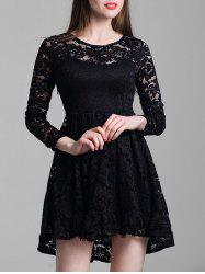 Round Neck Lace A Line Dress -