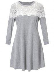 Lace Panel Tunic Dress -